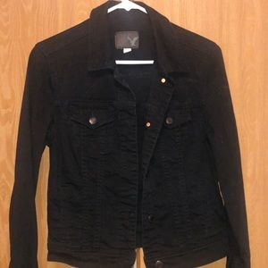 American eagle black jean jacket